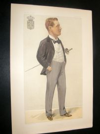 Vanity Fair Print 1897 Prince Henry of Orleans, Royal